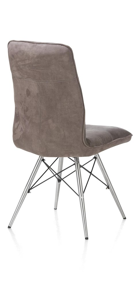 Chaise pied inox design milan for Chaise inox