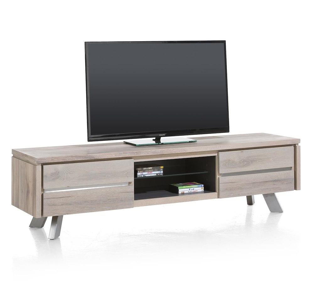ermont meuble tv 1 tiroir 1 porte rabattante 2 niches 190 cm. Black Bedroom Furniture Sets. Home Design Ideas