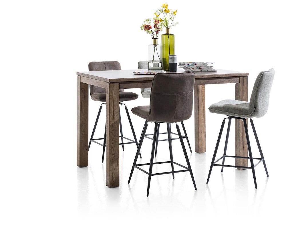 milva chaise de bar pivotante pieds noir. Black Bedroom Furniture Sets. Home Design Ideas