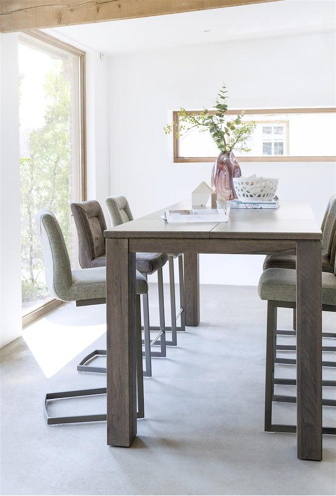 ermondo table haute a rallonge 180 50 x 90 cm. Black Bedroom Furniture Sets. Home Design Ideas