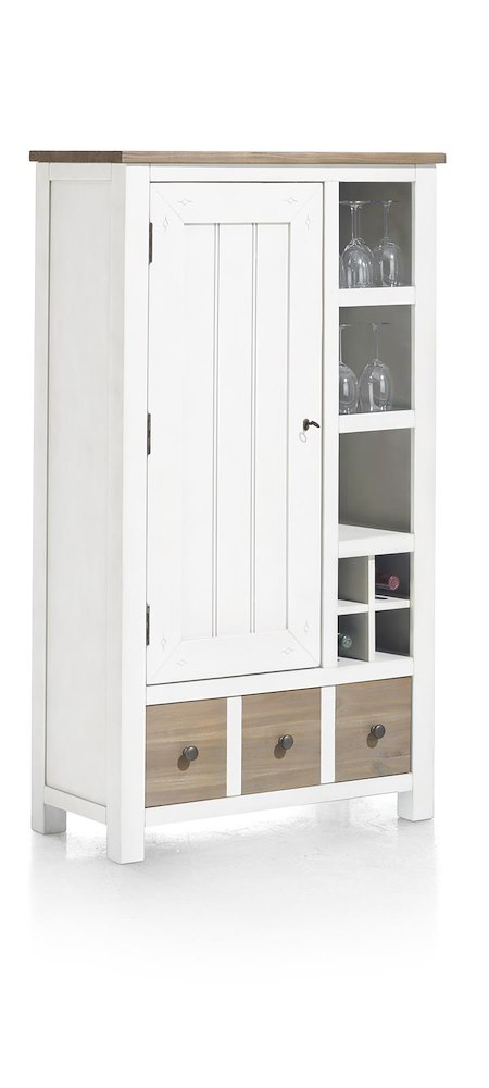 armoire 1 porte 1 tiroir 3 niches le port heth. Black Bedroom Furniture Sets. Home Design Ideas