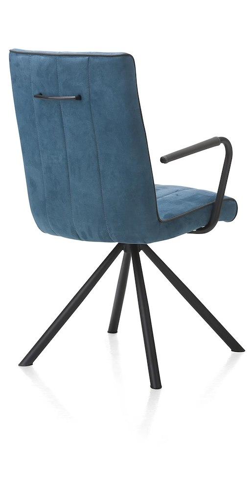 Elza chaise 4 pieds noir tissu calabria 4 couleurs - Chaise tissu couleur ...