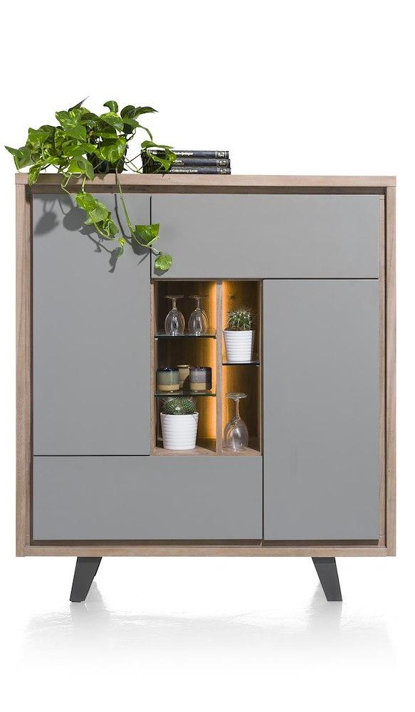 armoire 125cm 2 portes 1 tiroir 5 niches box heth. Black Bedroom Furniture Sets. Home Design Ideas