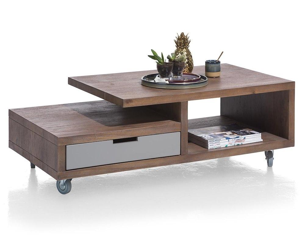 table basse 60 x 120 cm 1 tiroir 2 niches box. Black Bedroom Furniture Sets. Home Design Ideas
