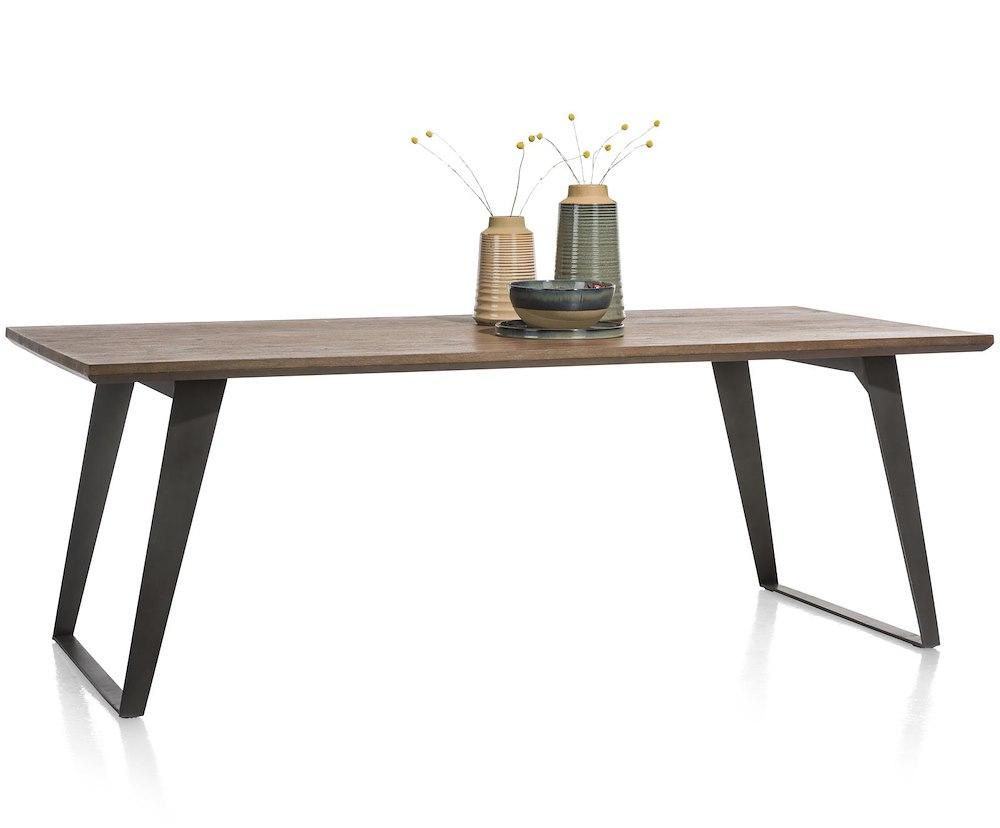 Box table 220 x 100 cm pied carre - Pied de table 100 cm ...