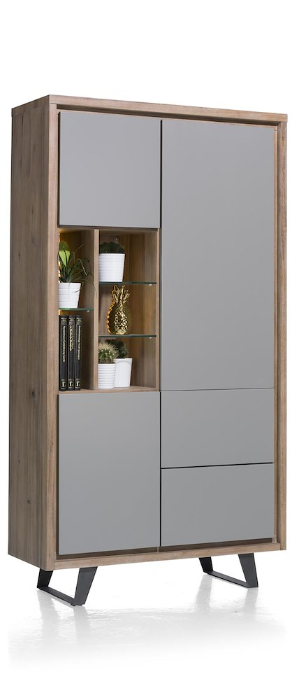 armoire 110cm 3 portes 2 tiroirs 5 niches box heth. Black Bedroom Furniture Sets. Home Design Ideas
