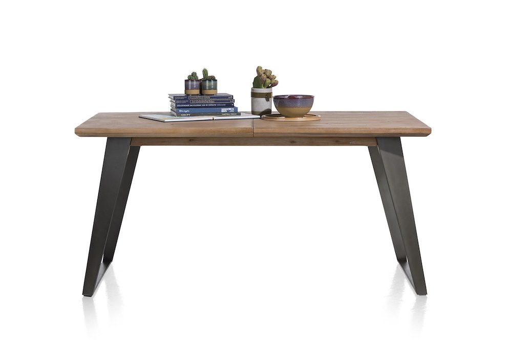 Box Extendable Dining Table 190 60 X 100 Cm Square Leg