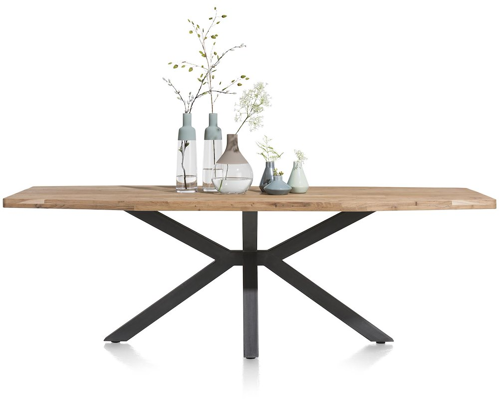 Quebec table 240 x 110 cm pieds en metal for Table pied en x