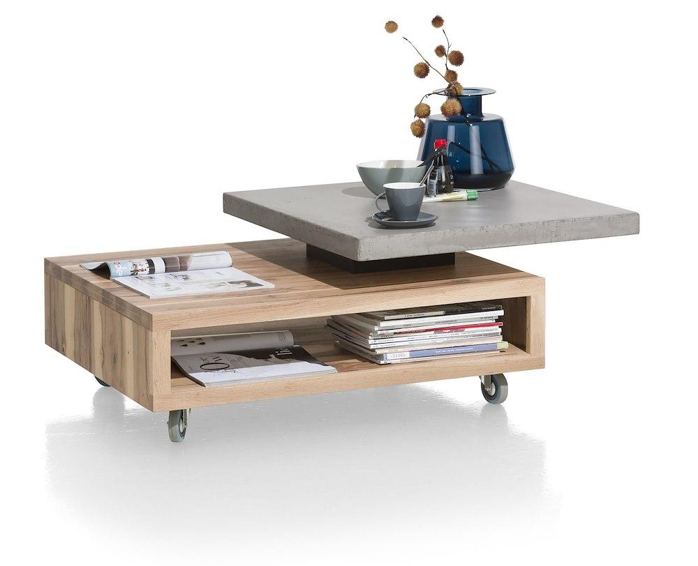 maitre table basse 90 x 70 cm plateaux pivotant. Black Bedroom Furniture Sets. Home Design Ideas