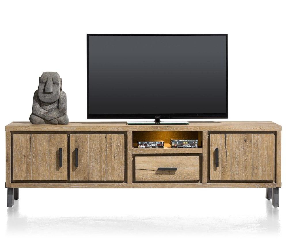 vitoria lowboard 3 portes 1 tiroir 1 niche 200 cm led. Black Bedroom Furniture Sets. Home Design Ideas