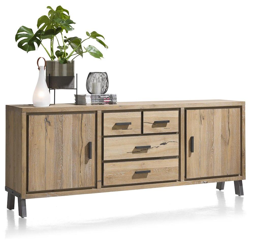 vitoria buffet 2 portes 3 tiroirs 210 cm. Black Bedroom Furniture Sets. Home Design Ideas