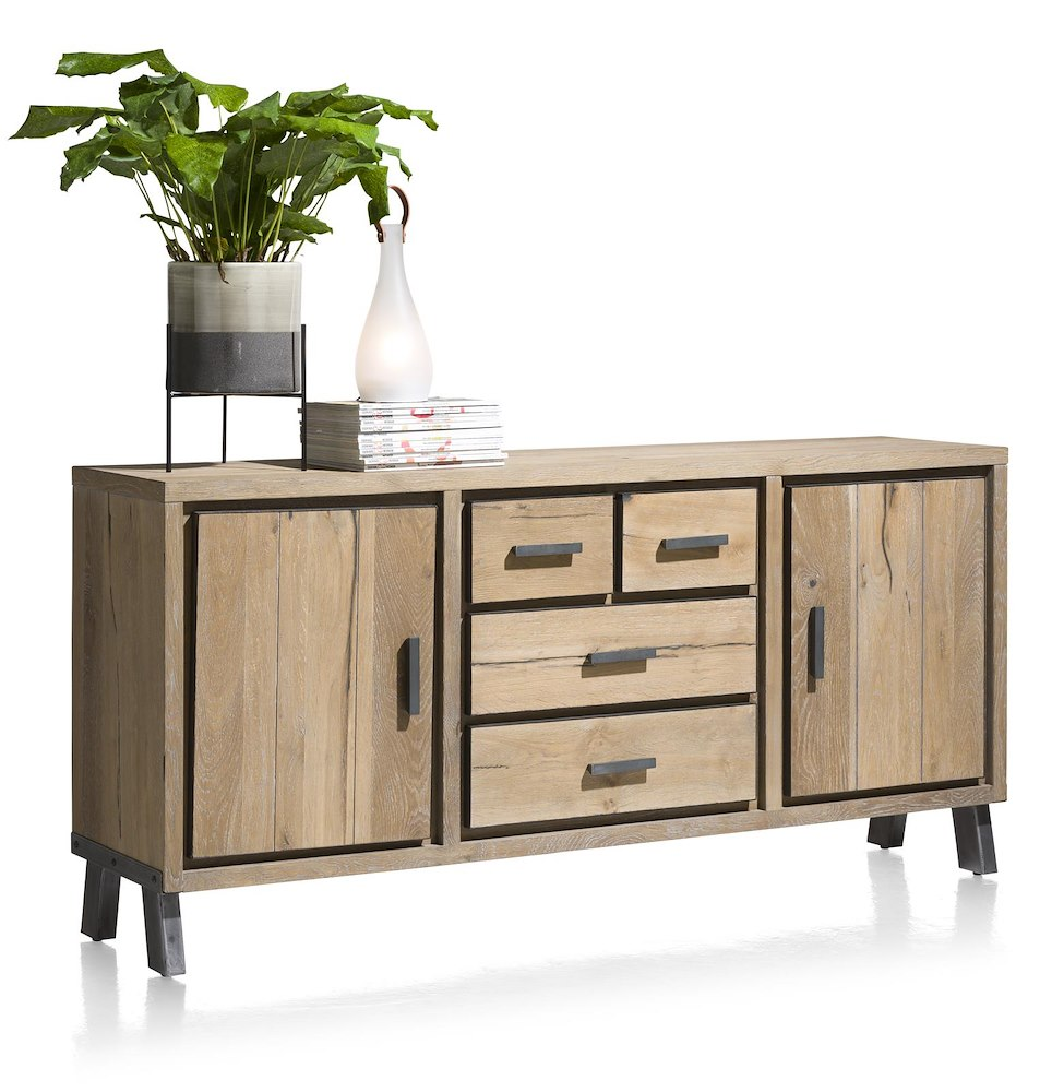vitoria buffet 2 portes 3 tiroirs 180 cm. Black Bedroom Furniture Sets. Home Design Ideas