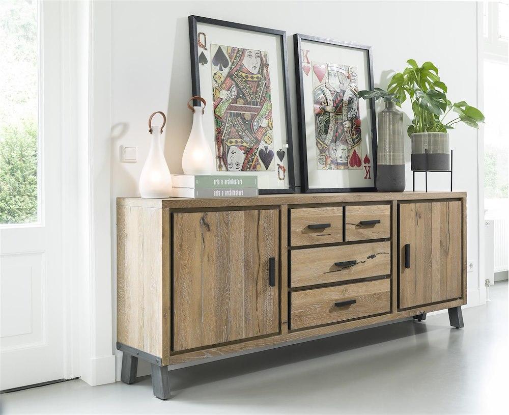 vitoria buffet 2 portes 3 tiroirs 180 cm. Black Bedroom Furniture Sets. Home Design Ideas