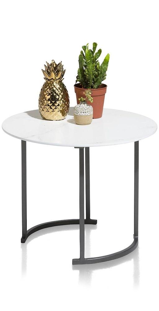 table d 39 appoint vrijburg ronde 50 cm. Black Bedroom Furniture Sets. Home Design Ideas