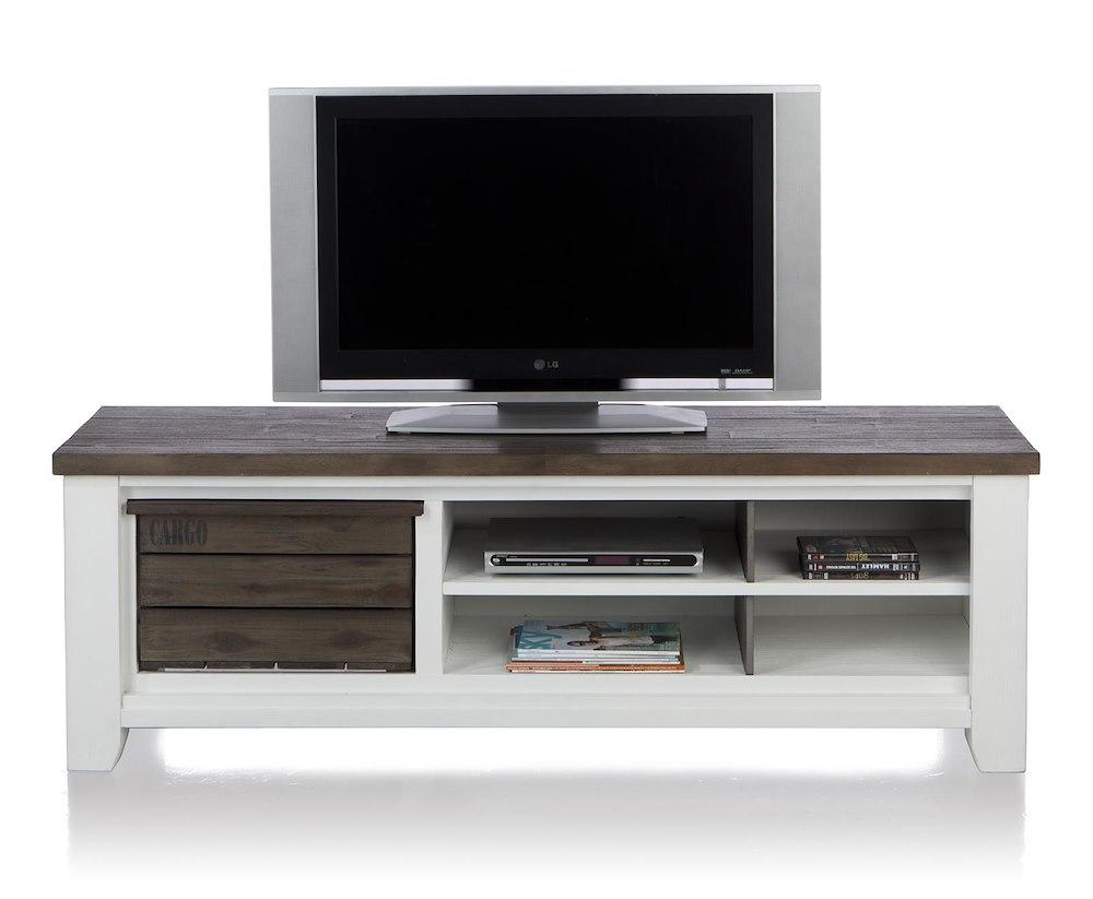 meuble tv velasco 1 corbeille 4 niches 160 cm heth. Black Bedroom Furniture Sets. Home Design Ideas