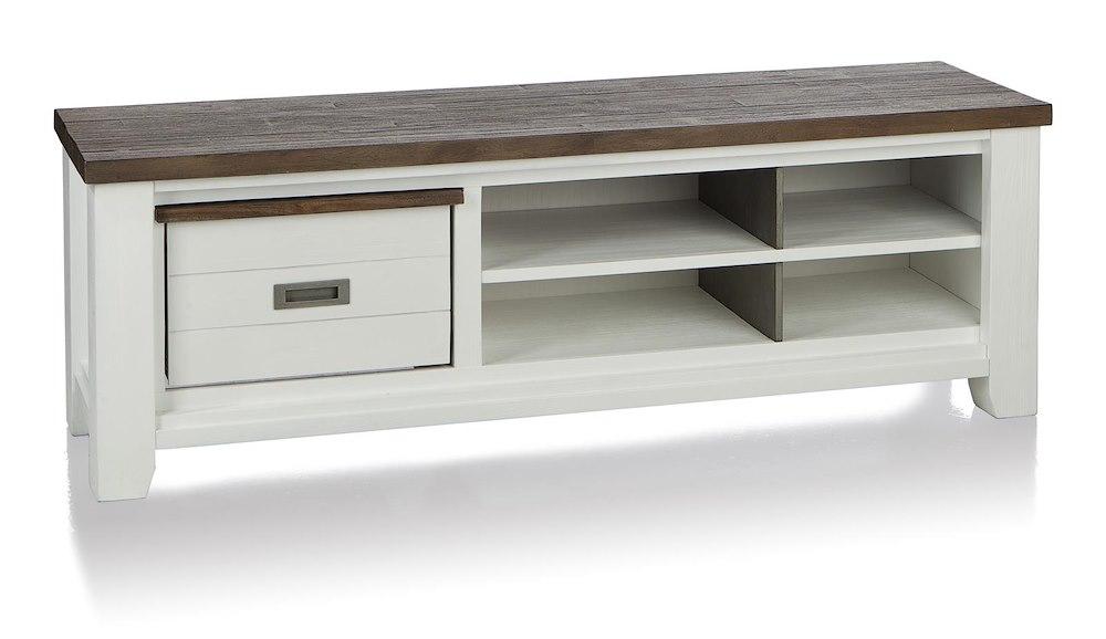 velasco meuble tv 1 corbeille 4 niches 160 cm. Black Bedroom Furniture Sets. Home Design Ideas
