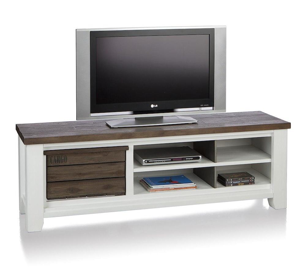 Velasco tv sideboard 1 basket 4 niches 160 cm for Sideboard qr
