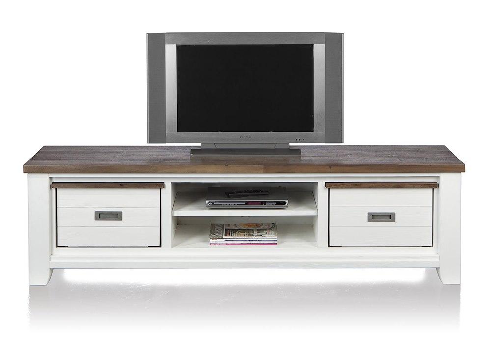 meuble tv velasco 2 corbeilles 2 niches 190 cm heth. Black Bedroom Furniture Sets. Home Design Ideas