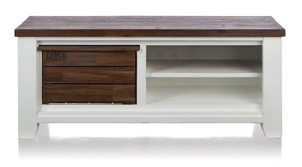 meuble tv velasco 1 corbeille 2 niches 130 cm heth. Black Bedroom Furniture Sets. Home Design Ideas