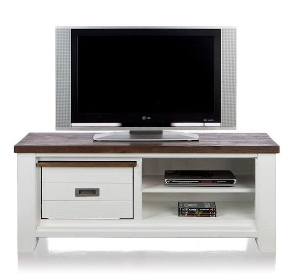 meuble tv velasco 1 corbeille 2 niches 130 cm heth. Black Bedroom Furniture Sets. Home Design Ideas