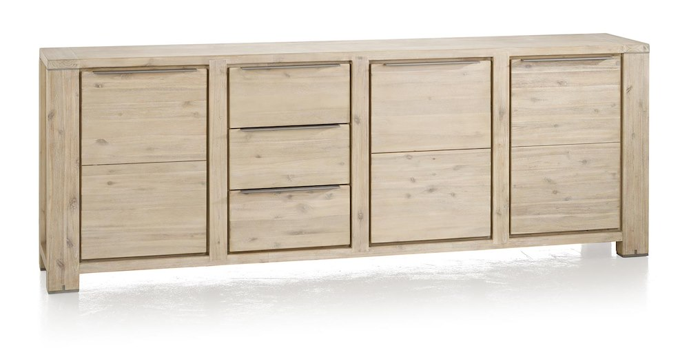 buffet buckley 3 portes 3 tiroirs 250cm heth. Black Bedroom Furniture Sets. Home Design Ideas