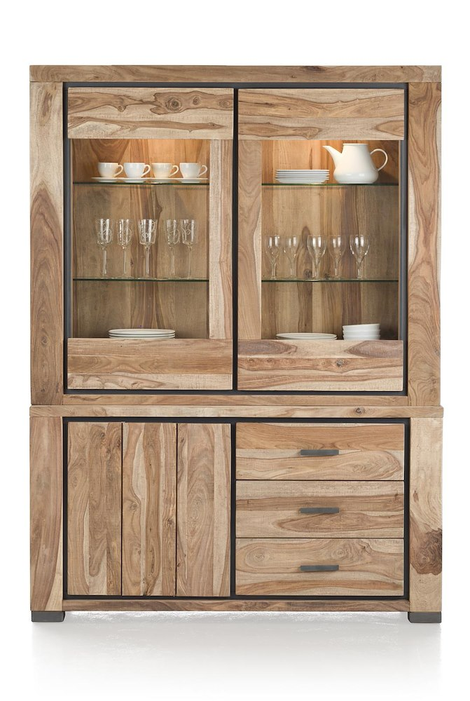 priego vaisselier 2 portes en verre 1 porte 3 tiroirs. Black Bedroom Furniture Sets. Home Design Ideas