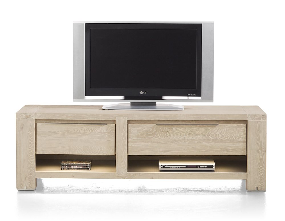 buckley meuble tv 1 tiroir 2 niches 1 porte rabattante 150 cm led. Black Bedroom Furniture Sets. Home Design Ideas