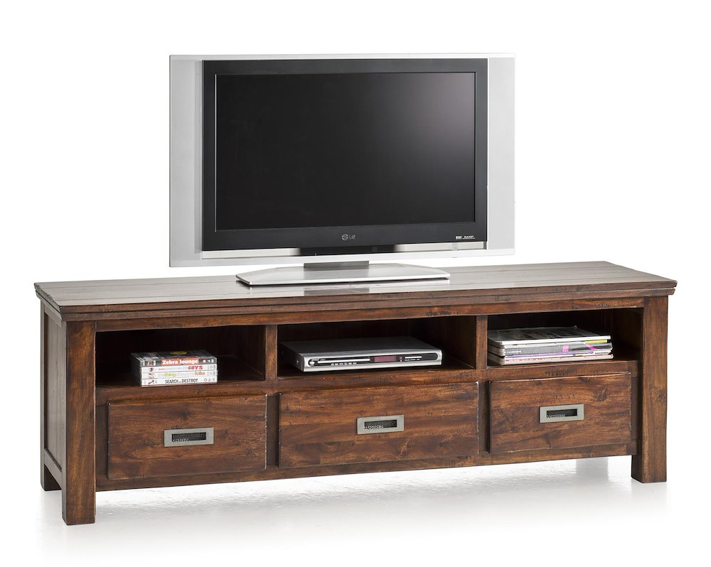 cape cod meuble tv 3 tiroirs 3 niches 160 cm. Black Bedroom Furniture Sets. Home Design Ideas