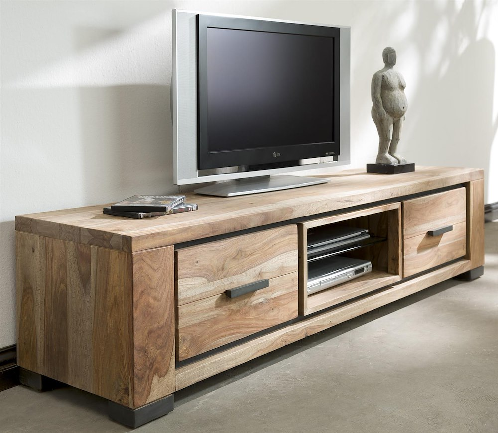 meuble tv priego 1 porte rabattante 170cm heth. Black Bedroom Furniture Sets. Home Design Ideas