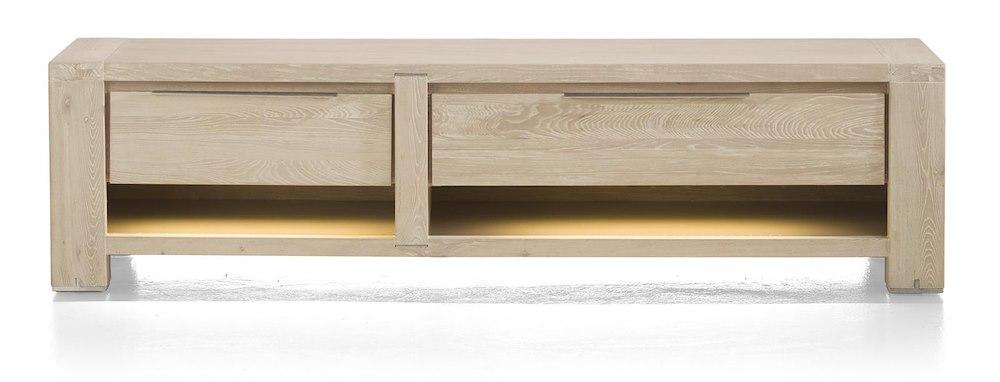 meuble tv buckley 1 tiroir 2 niches 1 porte 180cm heth. Black Bedroom Furniture Sets. Home Design Ideas