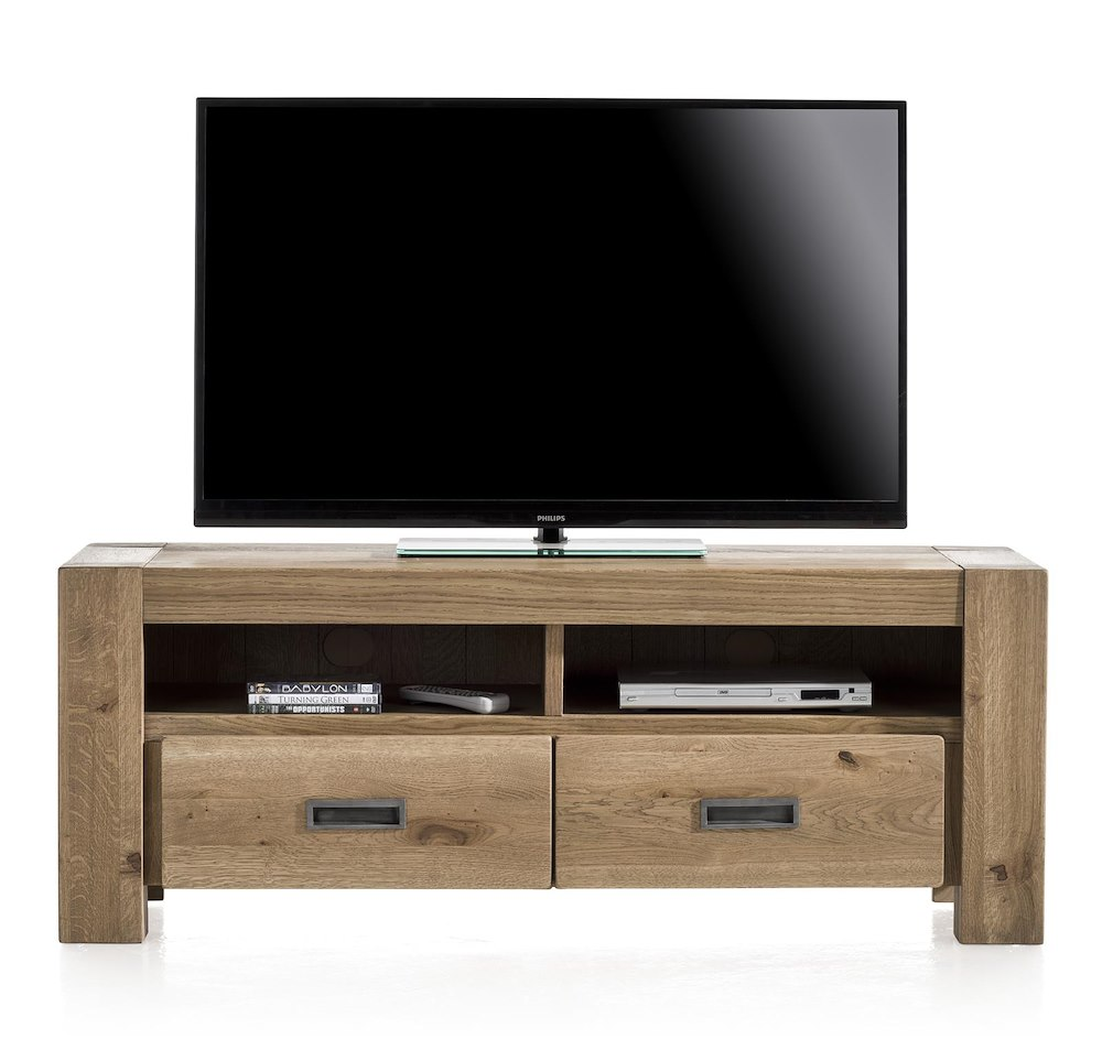 Santorini meuble tv 2 tiroirs 2 niches 140 cm - Meuble tv 140 cm ...