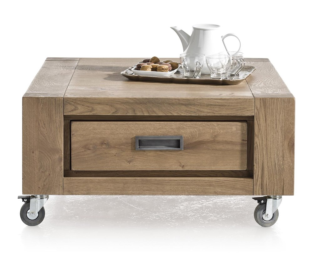 Santorini coffee table 80 x 80 cm 1 drawer t t for Schreibtisch 80 x 60