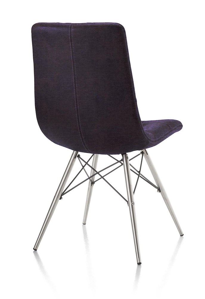 chaise alegra inox pied conique heth. Black Bedroom Furniture Sets. Home Design Ideas