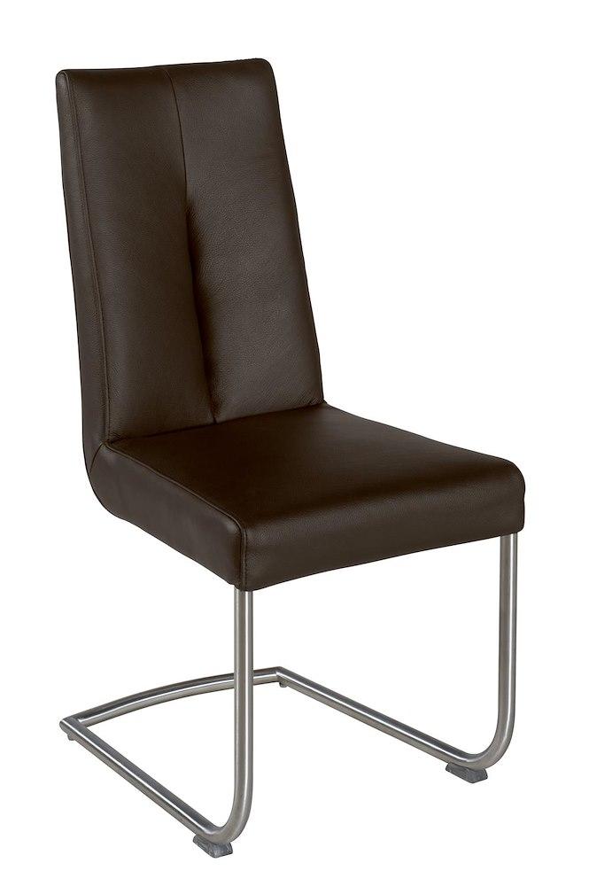 Yorick dining chair stainless steel catania leather for Leather and steel dining chairs
