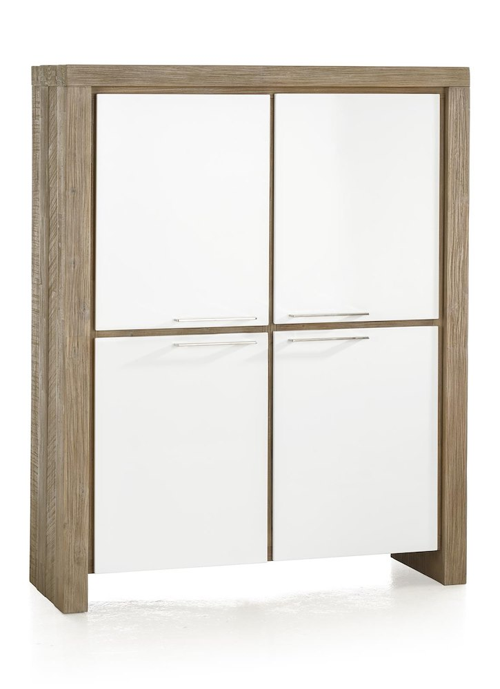 armoire basse kozani 4 portes 2 tiroirs 120cm heth. Black Bedroom Furniture Sets. Home Design Ideas