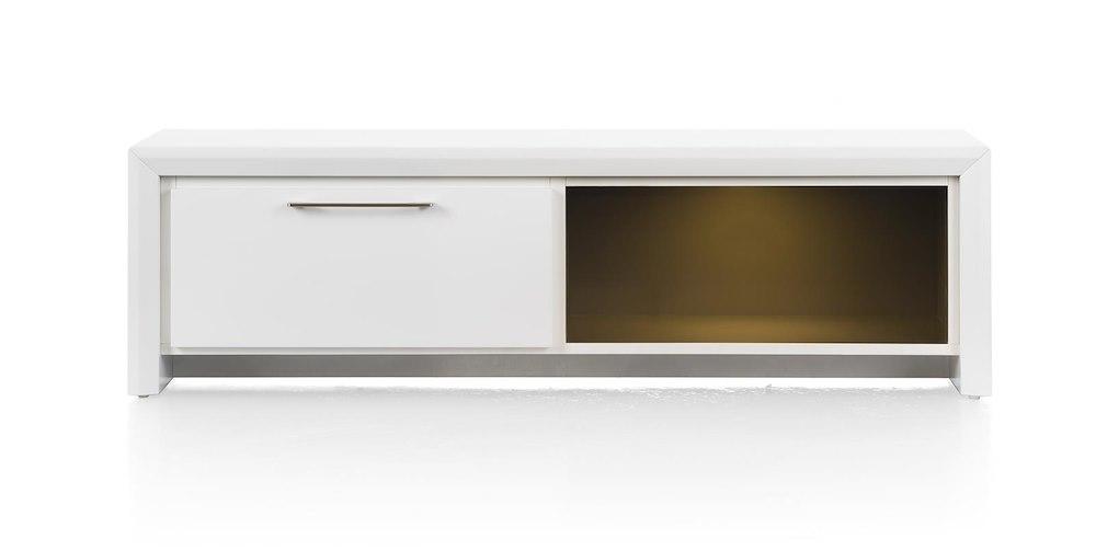 meuble tv kozani 1 tiroir 1 niche 140cm heth. Black Bedroom Furniture Sets. Home Design Ideas