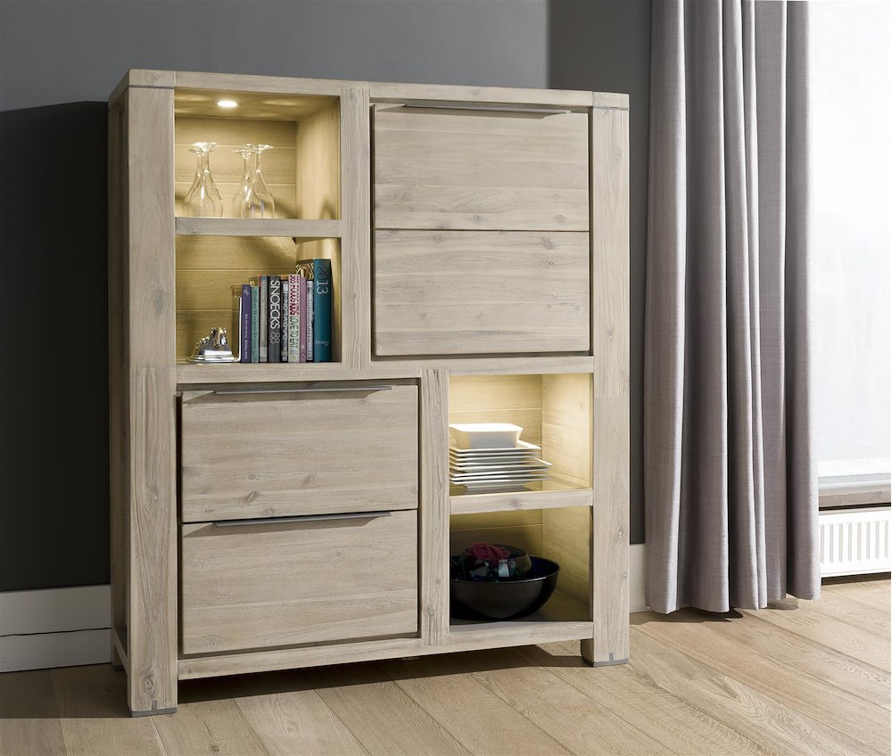armoire buckley 1 porte 2 tiroirs 4 niches 120cm heth. Black Bedroom Furniture Sets. Home Design Ideas