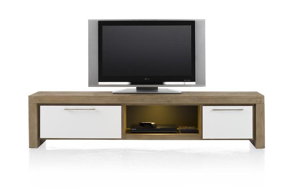 kozani meuble tv 1 tiroir 1 porte rabattante 1 niche 180 cm led. Black Bedroom Furniture Sets. Home Design Ideas