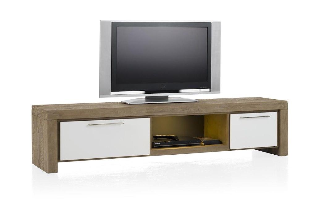 kozani meuble tv 1 tiroir 1 porte rabattante 1 niche. Black Bedroom Furniture Sets. Home Design Ideas