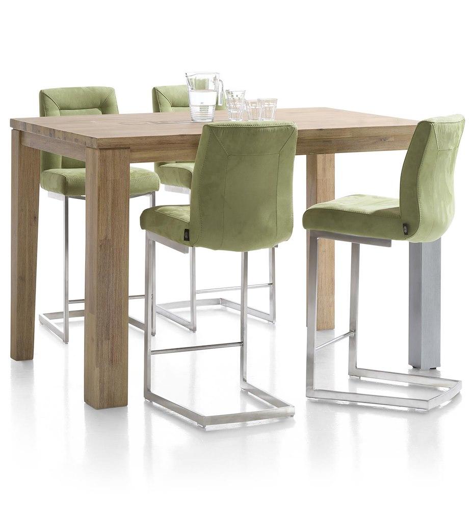 chaise bar malene inox pied traineau carre heth. Black Bedroom Furniture Sets. Home Design Ideas
