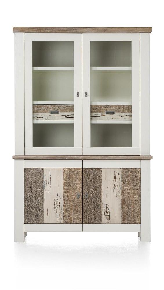 tibro vaisselier 2 portes en verre 2 portes 2 tiroirs. Black Bedroom Furniture Sets. Home Design Ideas