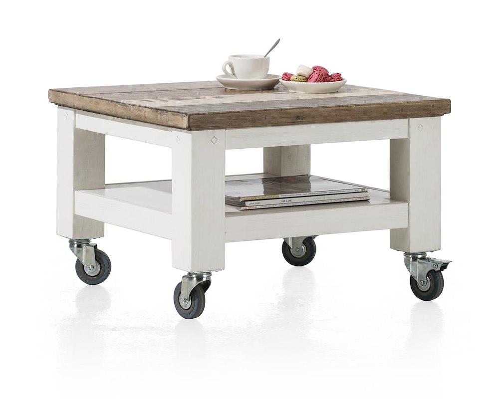 Tibro table basse 55 x 55 cm roues - Table basse hauteur 55 cm ...