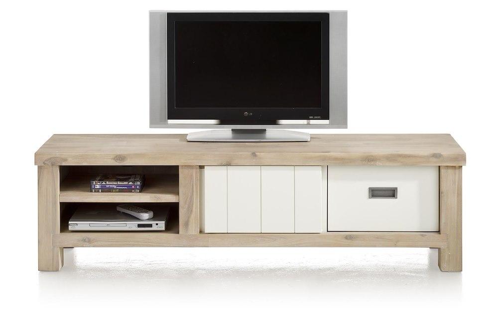 Istrana tv sideboard 1 sliding door 1 drawer 2 niches for Sideboard qr