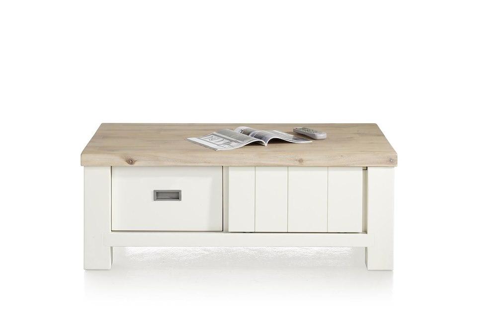 Istrana table basse 120 x 70 cm 2 portes coulissantes for Table largeur 70 cm