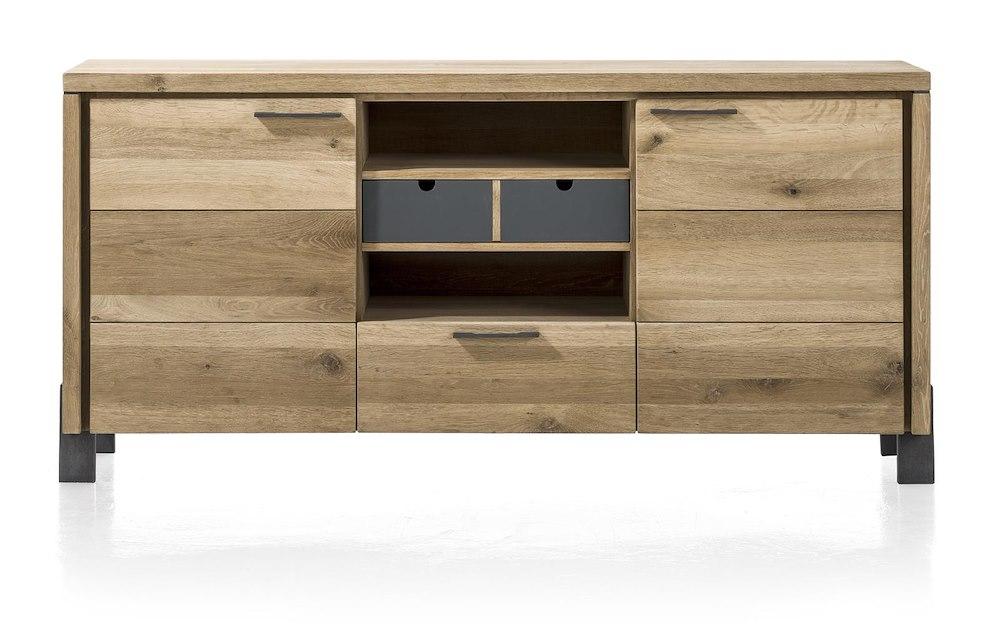modrava buffet 2 portes 1 tiroir 1 corbeille 2 niches 180 cm. Black Bedroom Furniture Sets. Home Design Ideas