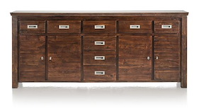 Cape Cod, Sideboard 4-doors + 8-drawers - 220 Cm