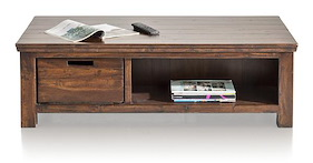 Cape Cod, Table Basse 130x75 Cm + 2-corbeilles + 2-niches