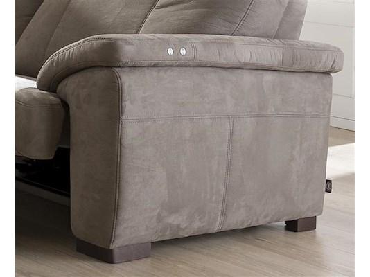 canap 2 5 places lectrique avec appui t te veneto heth. Black Bedroom Furniture Sets. Home Design Ideas