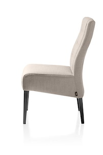 Lea, Dining Chair - Pampas Grey Leg + Fabric River 4 Colours