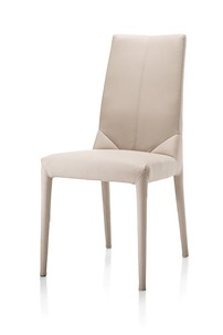 Britt, Dining Chair With Fabric Legs + Moreno Leatherlook